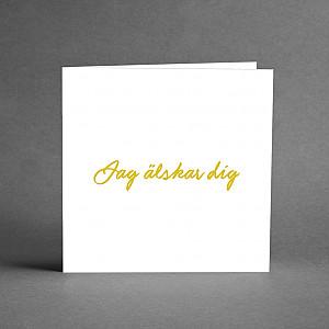 Card Jag älskar dig