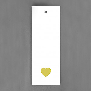 Gift Tag Heart Gold