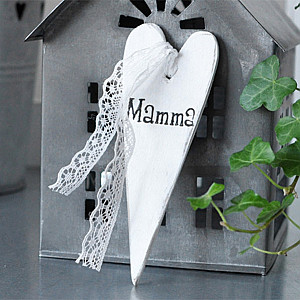 Wooden Tag Heart Mamma