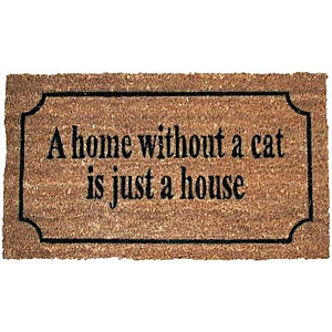 Doormat A home without a cat