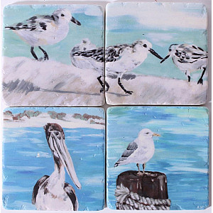 Coasters Birds by the sea