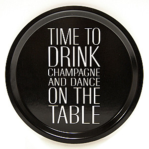 Round Tray Champagne