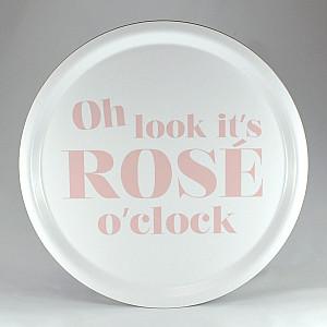 Round Tray Rosé o clock