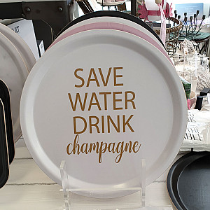 Round Tray Save Water