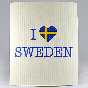 Dish Cloth I love Sweden