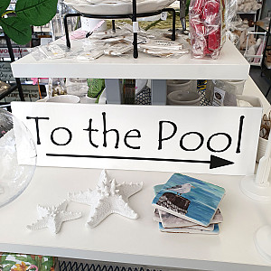 Sign To the Pool
