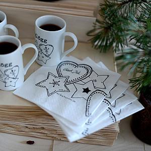 Coffee Napkins Swedish Julfika