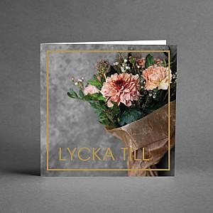 Card Lycka till Flower bouquet