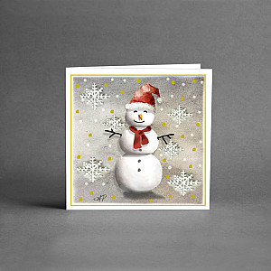 Small Christmas Card Snowman