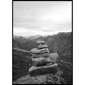 Norway Stones Poster