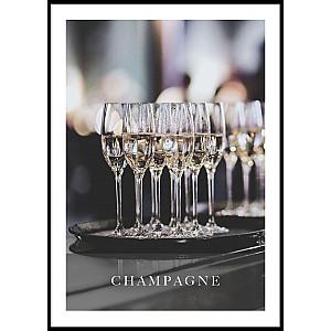 Champagner-Plakat