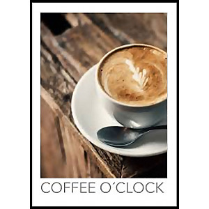 Coffee O'Clock Poster