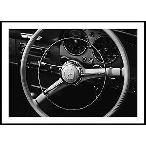 Steering Wheel Poster
