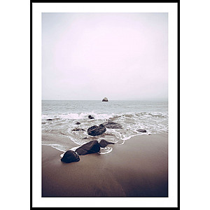 Ozean-Strand-Rosa-Plakat