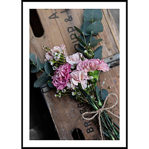 Pink Flower Bouquet Poster