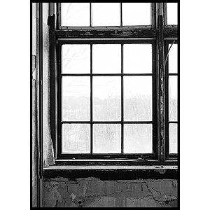 Window Black & White Poster