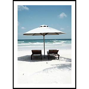 Tropical Sunbeds Poster