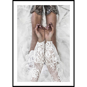 Lace Hands & Legs Poster