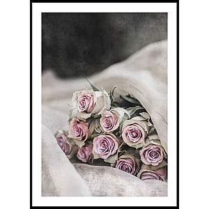 Poster Pink Roses Bouquet