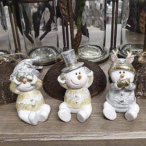 Snowmen No See No Hear No Speak