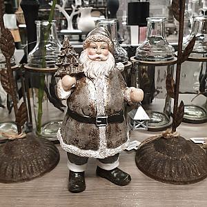 Santa with spruce & lantern