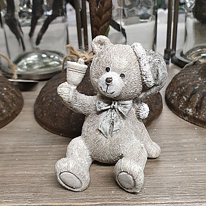 Sitting Teddy With a bell