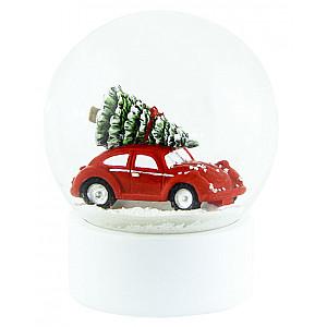 Snow Globe Car Red Large