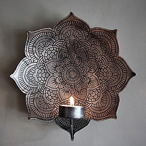 Majas Wall Candle Holder Mandala