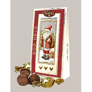 Chocolate Pralines God Helg Santa