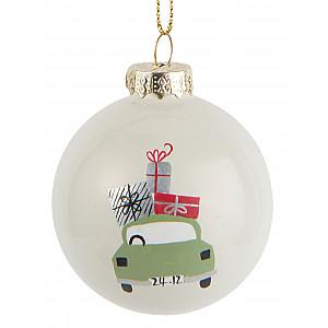 Christmas Bauble Green Car