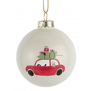 Christmas Bauble Red Car