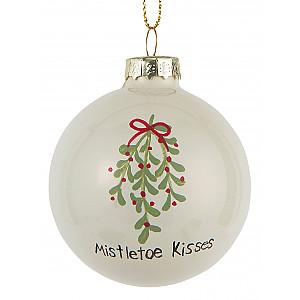 Christmas Bauble Mistletoe kisses