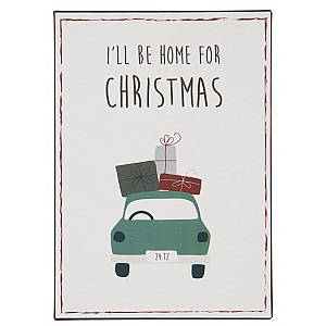 Plåtskylt Home for Christmas