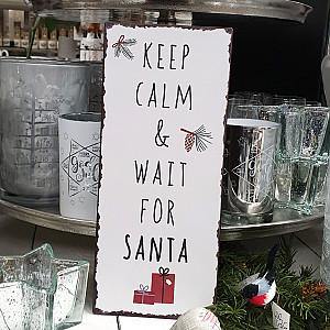 Tin Sign Keep Calm & Wait