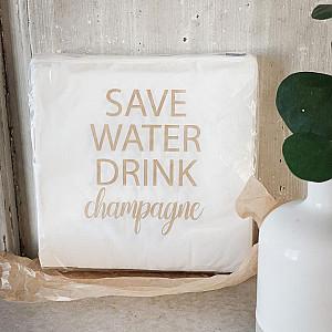 Servietten sparen Wasser