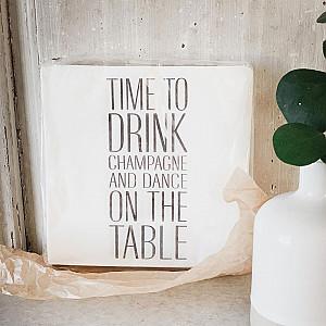 Servietten Champagner