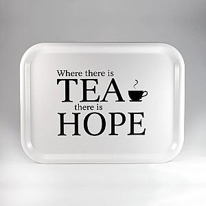 Tablett Wo es Tee gibt