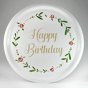 Rundes Tablett Alles Gute zum Geburtstag