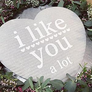 Dish Cloth Heart I like you