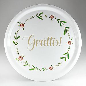 Round Tray Grattis