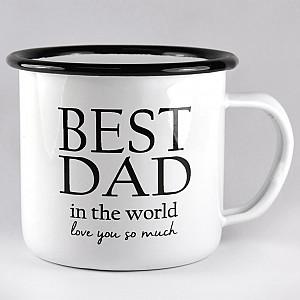 Emaille Tasse Best Dad