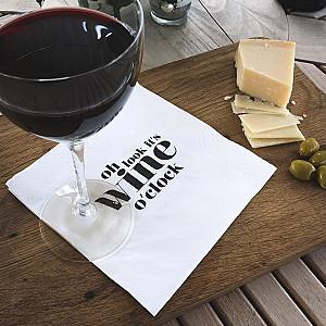 Servietten Wein Uhr