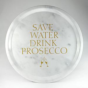 Rundes Tablett Sparen Sie Wasser