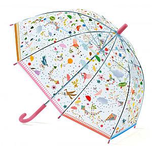 Paraply Fåglar Drakar Blommor