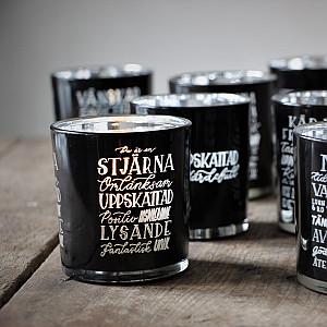 Majas Lykta Du är en stjärna - Svart/Silver