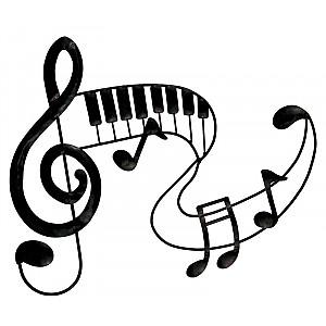 Väggdekoration Musik i hamrad plåt