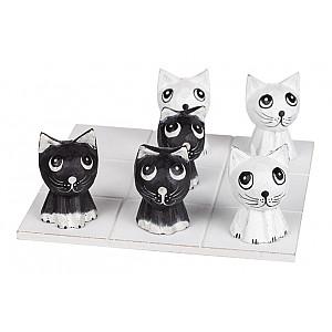 Drei in einer Reihe Katze