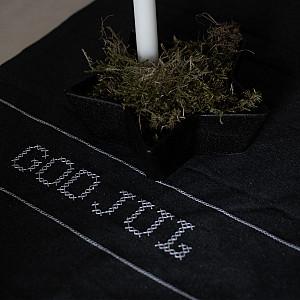 Löpare God Jul - Mörkgrå