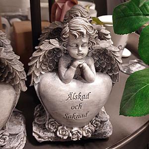 Ängel med hjärta Älskad och saknad