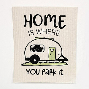 Disktrasa Home is where you park it Husvagn - Vit/Pastell